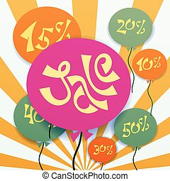 baloons with sale text