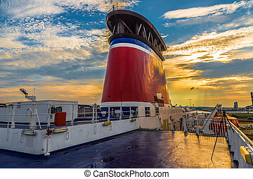 balsa, stena, espírito, navio, ficar, em, a, terminal,...
