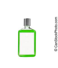Balsam bottle isolated on white