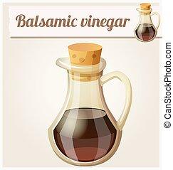 Balsamic vinegar. Detailed Vector Icon
