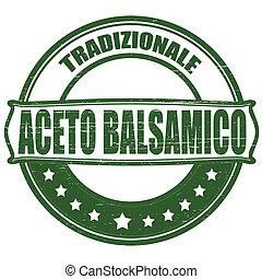Balsamic vinegar - Stamp with text balsamic vinegar inside, ...