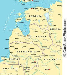 Baltic Countries Political Map - Baltic countries political...