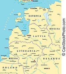 Baltic Countries Political Map - Baltic countries political...