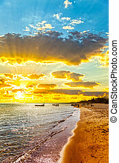 Baltic sea and sun - The sun and the Baltic sea in the...