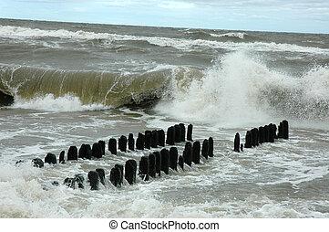 Baltic sea at storm
