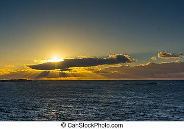 Baltic Sea at sunrise.