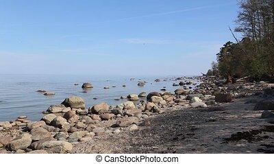 Baltic Sea coast beach Kurzeme Roja - DSLR Full HD...