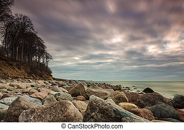 Baltic Sea coast in the evening in Heiligendamm, Germany.