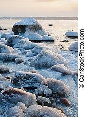 Baltic Sea coast in winter
