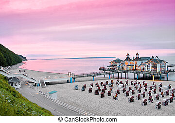 the baltic sea coast of east germany in the summer
