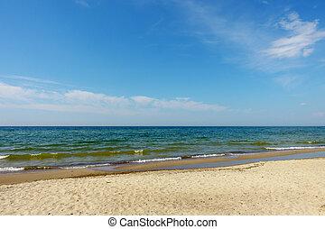 Baltic sea coast on sunny day