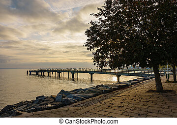 Baltic Sea coast on the island Ruegen, Germany.