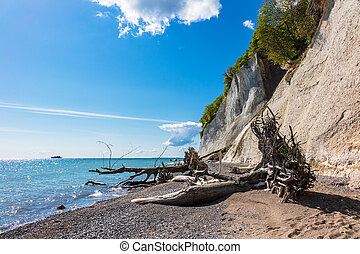 Baltic Sea coast on the island Ruegen in Germany