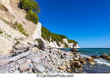 Baltic Sea coast on the island Ruegen in Germany