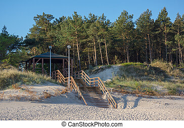 Baltic sea - exit to the beach