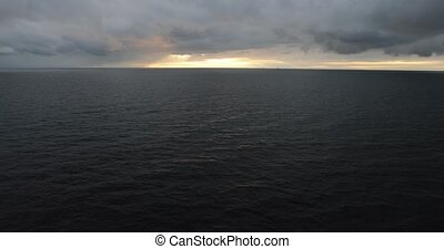Baltic Sea in cloudy weather from the side of the ferry