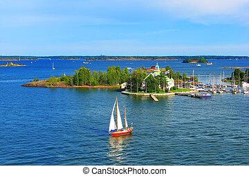 Baltic sea in Helsinki, Finland - Baltic sea in Helsinki,...