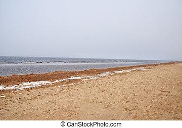 Baltic sea in winter.