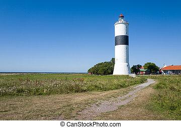 Baltic sea island Oland - Lighthouse %u201CL?nge Jan%u201D...