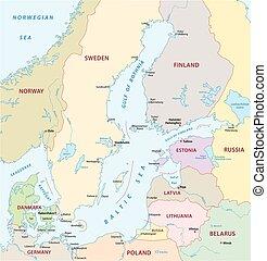 baltic sea map - baltic sea vector map