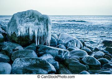 Baltic sea shore at winter