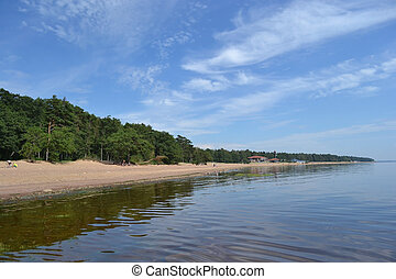 Coast of the Baltic Sea near the village of Komarovo, Russia