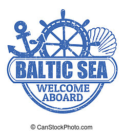 Baltic Sea stamp - Grunge rubber stamp with the text Baltic ...