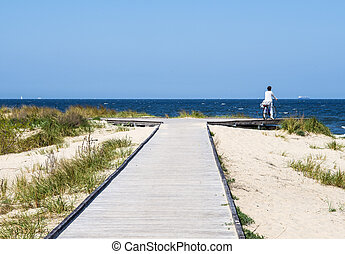 Baltic sea, view from the island Usedom