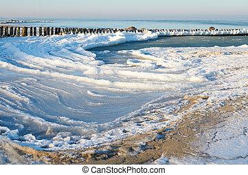 Winter Baltic sea beach