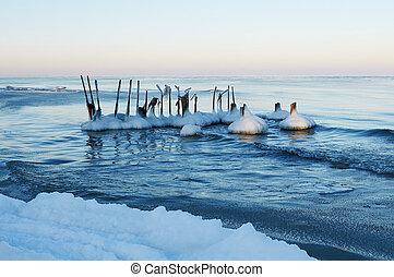 Baltic Sea - Winter Baltic sea beach