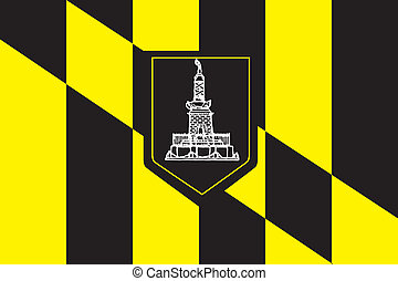 Baltimore city flag - Various vector flags, state symbols,...