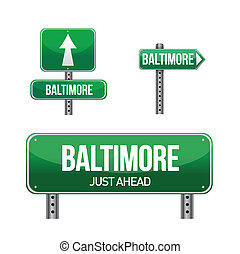 Baltimore city road sign