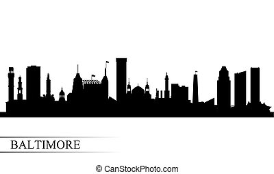 Baltimore city skyline silhouette background