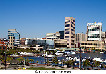 Baltimore Inner Harbor - Downtown Baltimore, Maryland city...