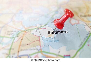 baltimore, karta stift