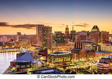 Baltimore, Maryland Skyline - Baltimore, Maryland, USA ...