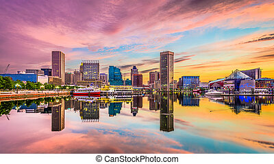 Baltimore, Maryland Skyline