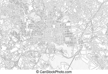 Baltimore, Maryland, USA, bright outlined vector map