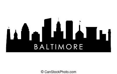 Baltimore skyline silhouette.