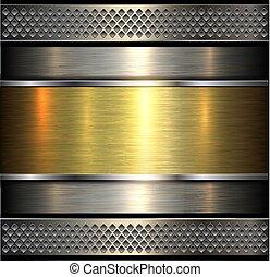 baluginante, fondo, metallico