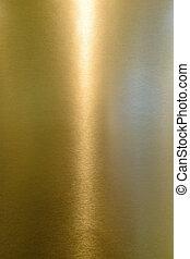 baluginante, metallo, giallo, superficie