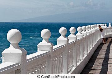 Balustrade along the coastline near Porto Santiago