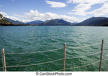 Balustrade and views of Lake Annecy