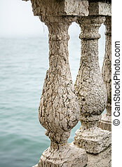 Balustrade At Shore of Lake, Venice, Italy
