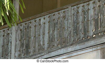 Balustrade detailing of a traditional-style house - A steady...