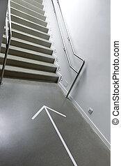balustrade métal, escalier