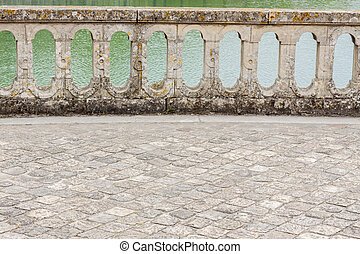 Balustrade - park of Royal hunting castle. Fontainebleau, France.