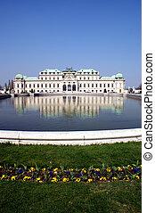 Balveder Palace in sunny, spring day. Vienna, Austria.