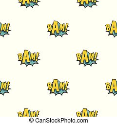 BAM, comic book explosion pattern seamless