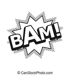 Bam Comic Explosion Vector